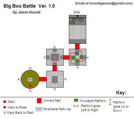 Super mario 64 ds big boo boss battle map png cahowell for Floor 4 mini boss map