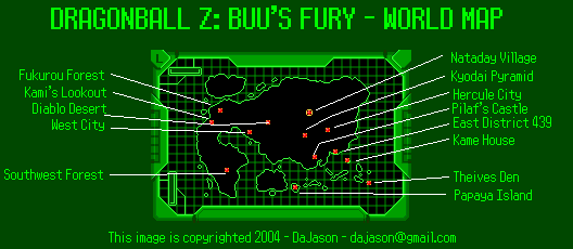 Dragon Ball Z Buu S Fury World Map Png Dajason Neoseeker
