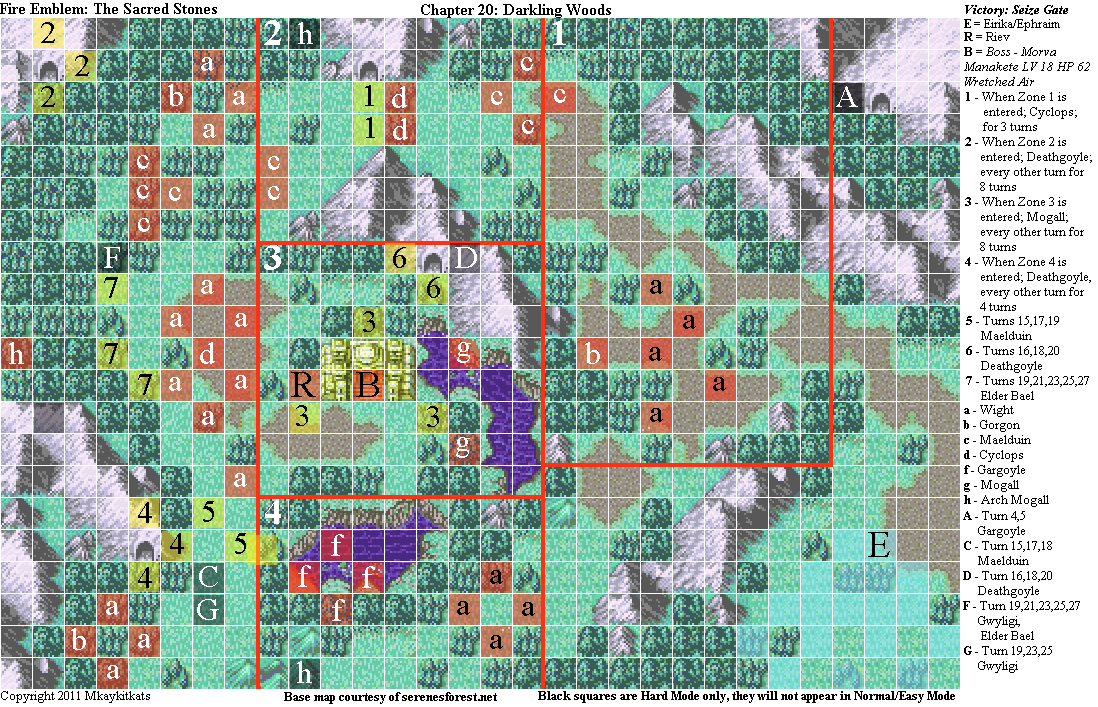 Fire Emblem: The Sacred Stones Chapter 20 Map (PNG)   Neoseeker