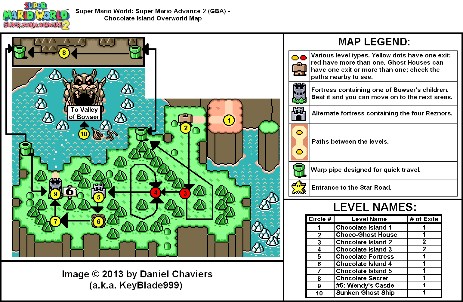 Super Mario Advance 2 Chocolate Island Overworld Map (PNG ...