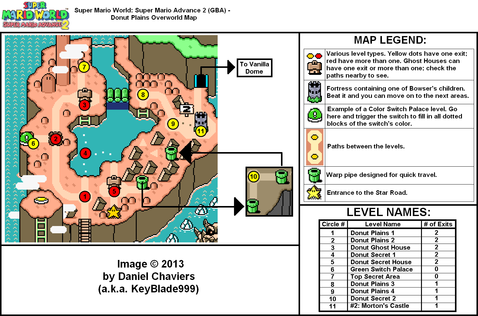 Super Mario Advance 2 Donut Plains Overworld Map Png Neoseeker