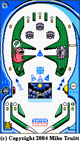 Pokemon Pinball Table Map - Blue (PNG)