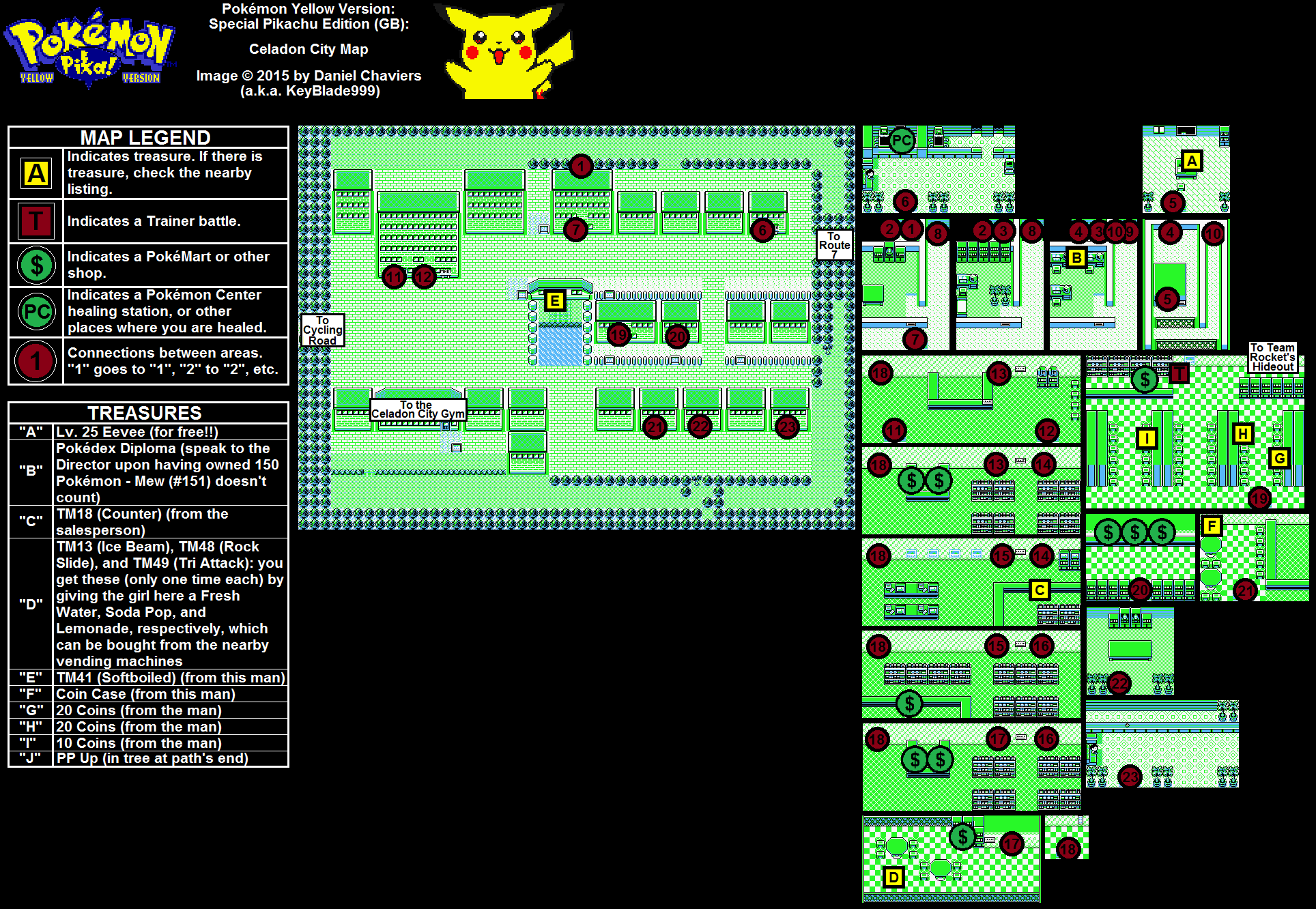 Pok 233 Mon Yellow Special Pikachu Edition Celadon City Map Png Neoseeker Walkthroughs