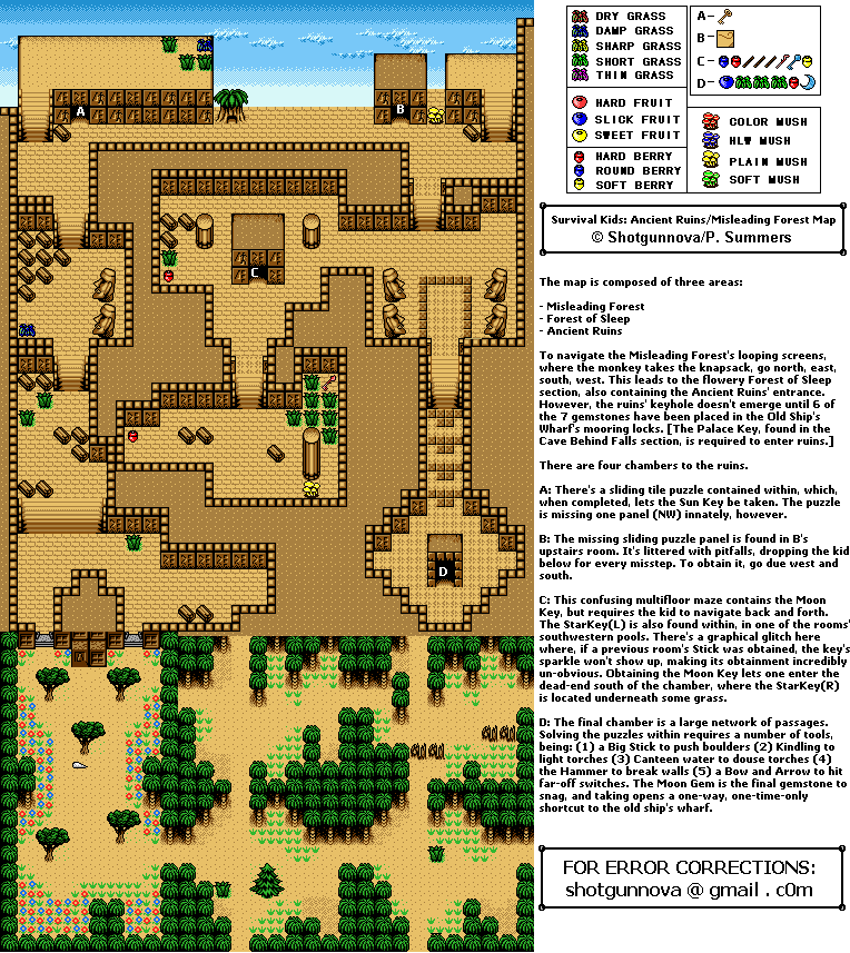 Ancient Ruins/Misleading Forest Map (PNG)