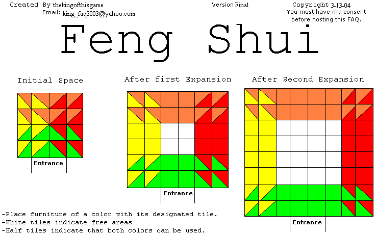 Animal Crossing Feng Shui Diagrams (PNG) Final - hosted by Neoseeker
