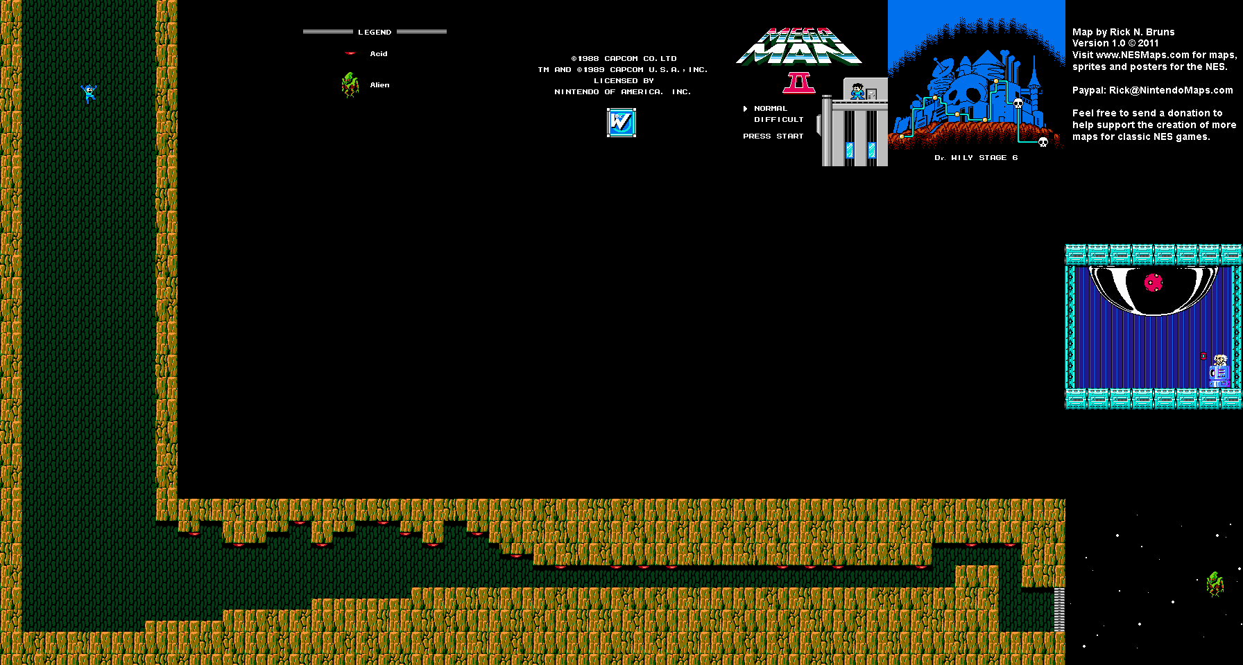 Dr. Wily Stage 6 Map (PNG)