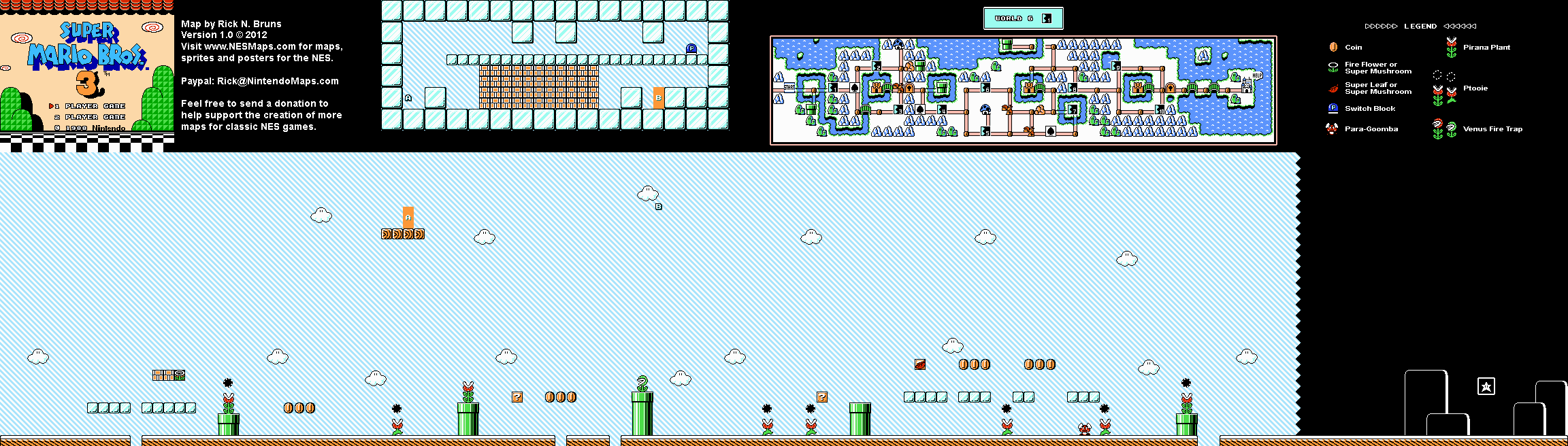 Super mario bros 3 world 6 1 map png v10 neoseeker walkthroughs world 6 1 map png gumiabroncs Image collections
