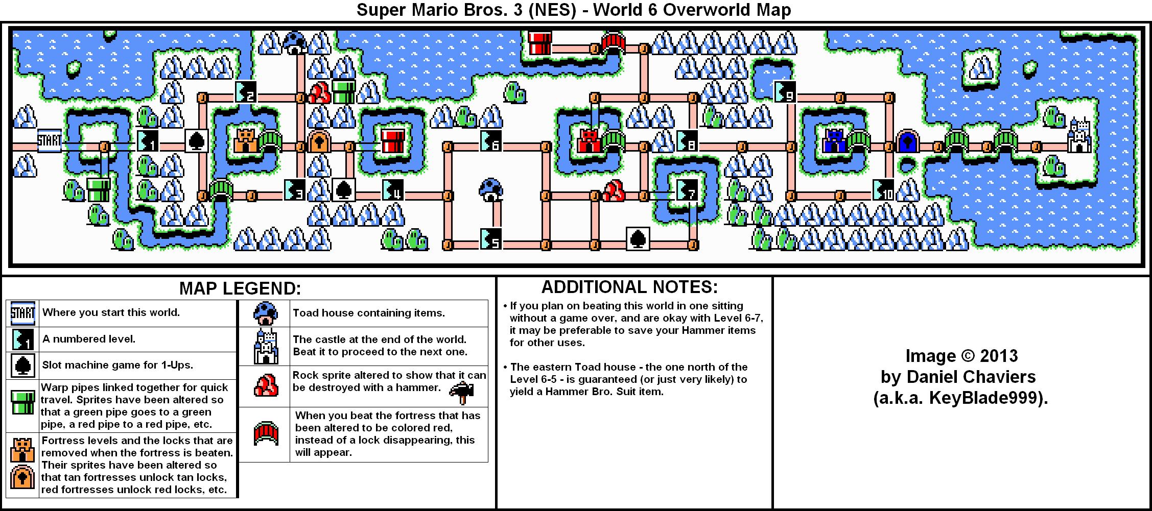 Mario 3 World Map.Super Mario Bros 3 World 6 Overworld Map Png Neoseeker Walkthroughs
