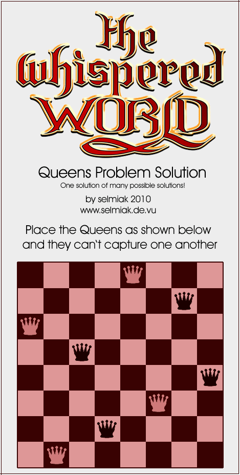 Queens Problem Solution (PNG)