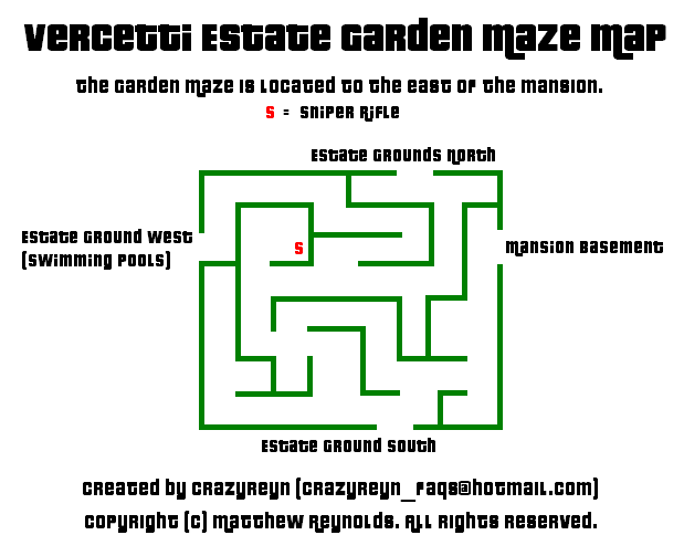 Vercetti Estate Garden Maze Map (PNG)