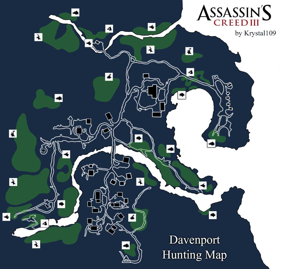 Assassin\\\\\\\\\\\\\\\\\\\\\\\\\\\\\\\'s Creed 3 Map Assassin's Creed III Davenport Hunting Map (PNG) v1.0   Neoseeker  Assassin\\\\\\\\\\\\\\\\\\\\\\\\\\\\\\\'s Creed 3 Map