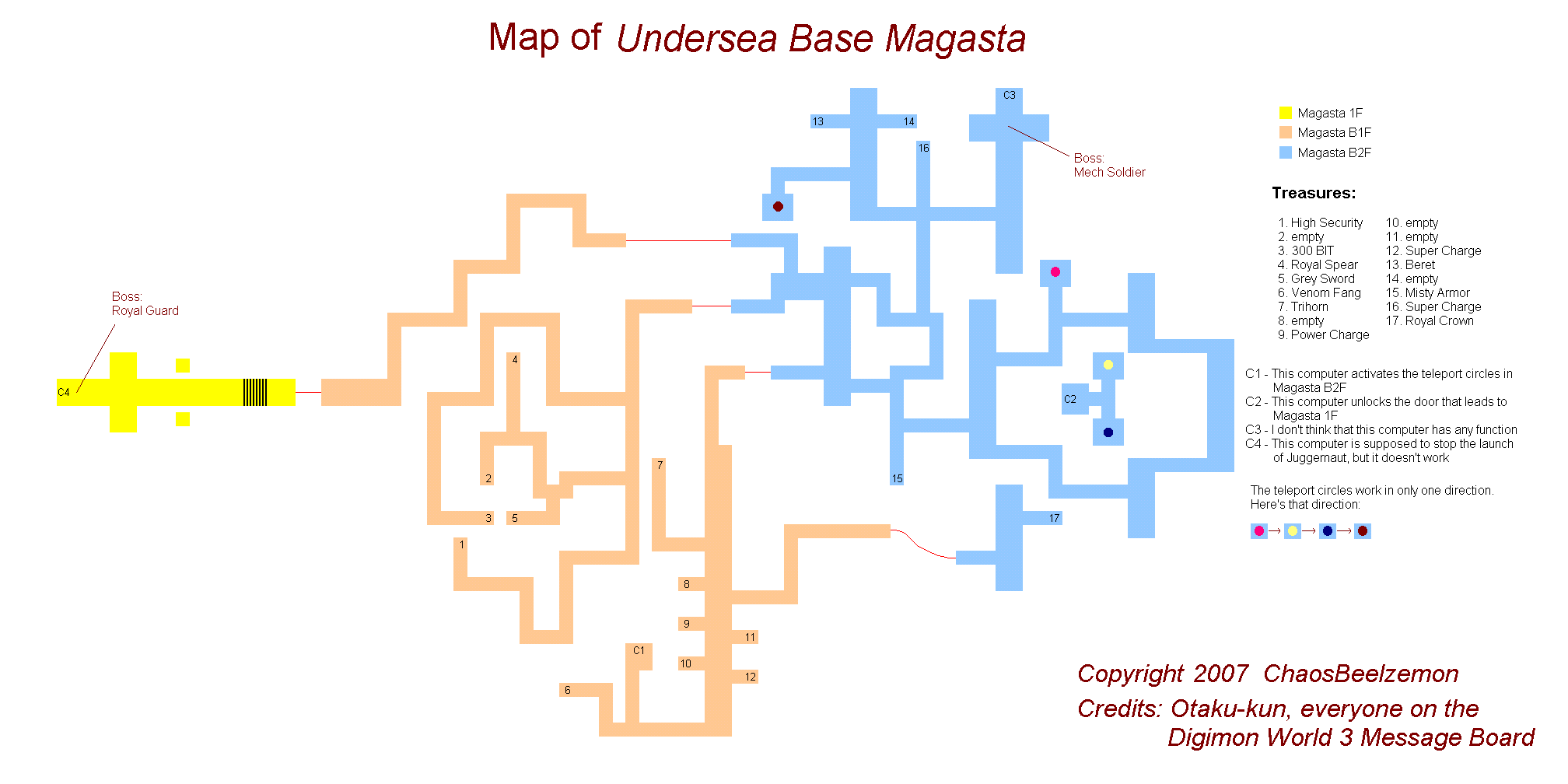 Digimon World 3 Undersea Base Magasta Map (PNG)