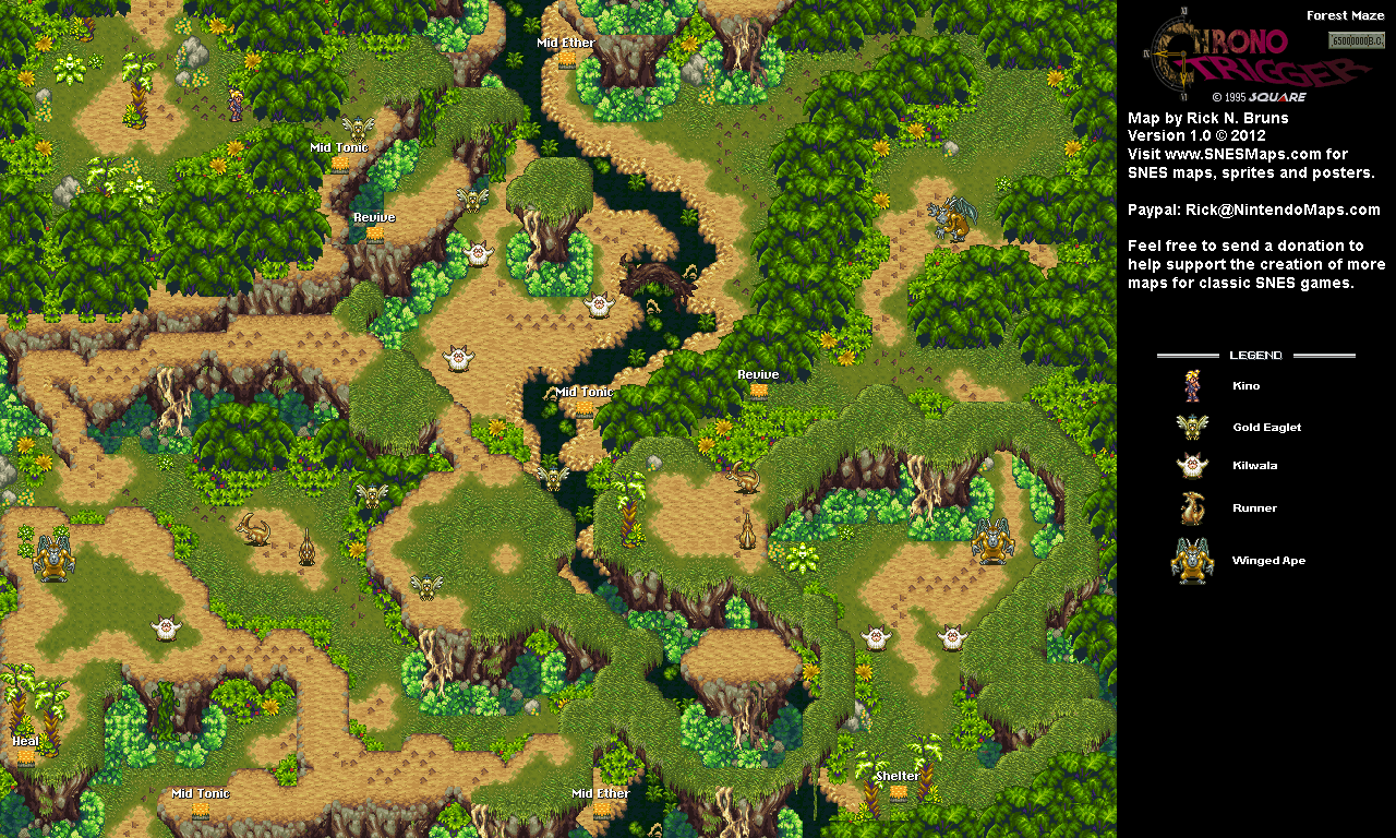 65,000,000 BC Forest Maze Map (PNG)