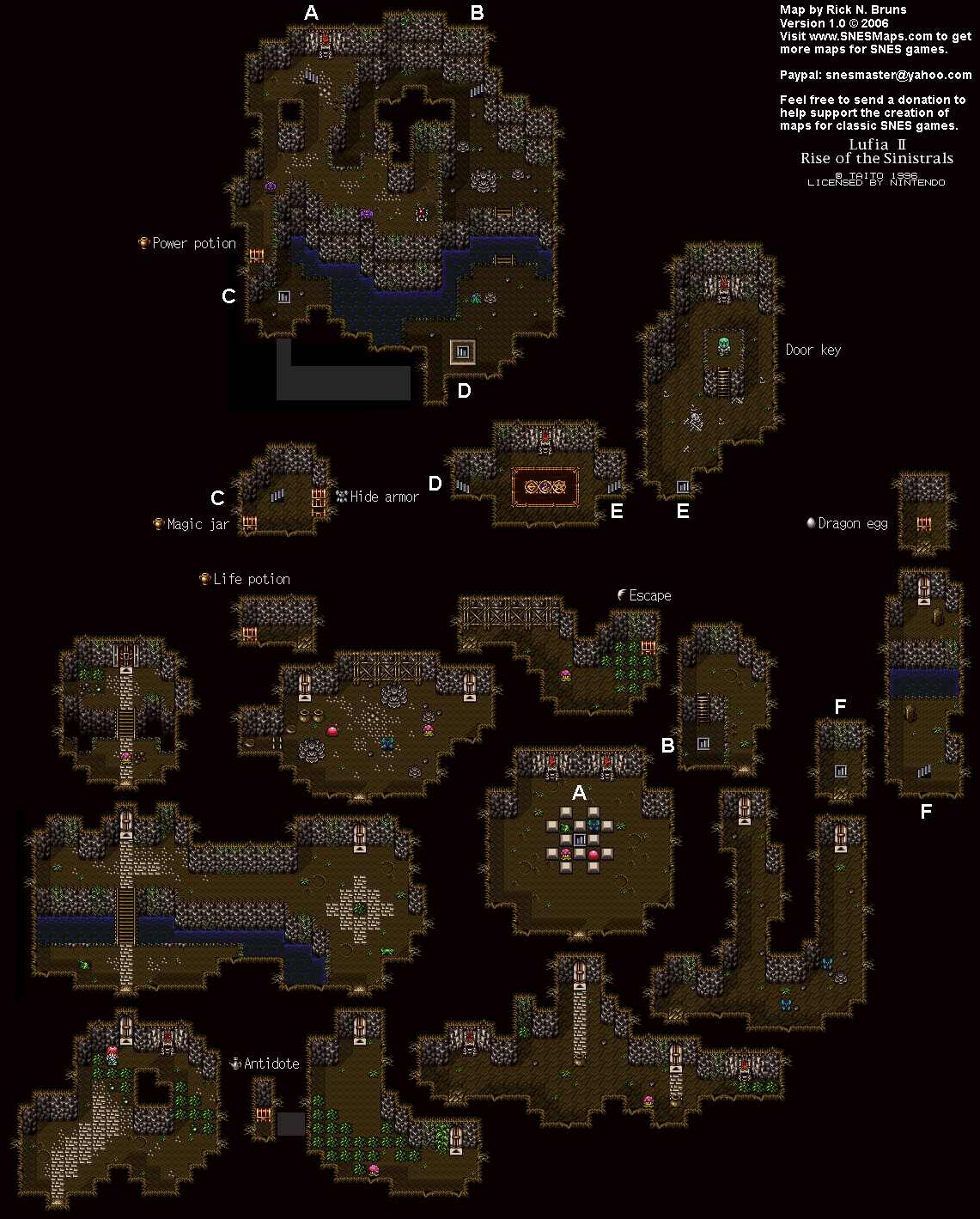 Lufia II Cave to Sundletan Map (PNG)