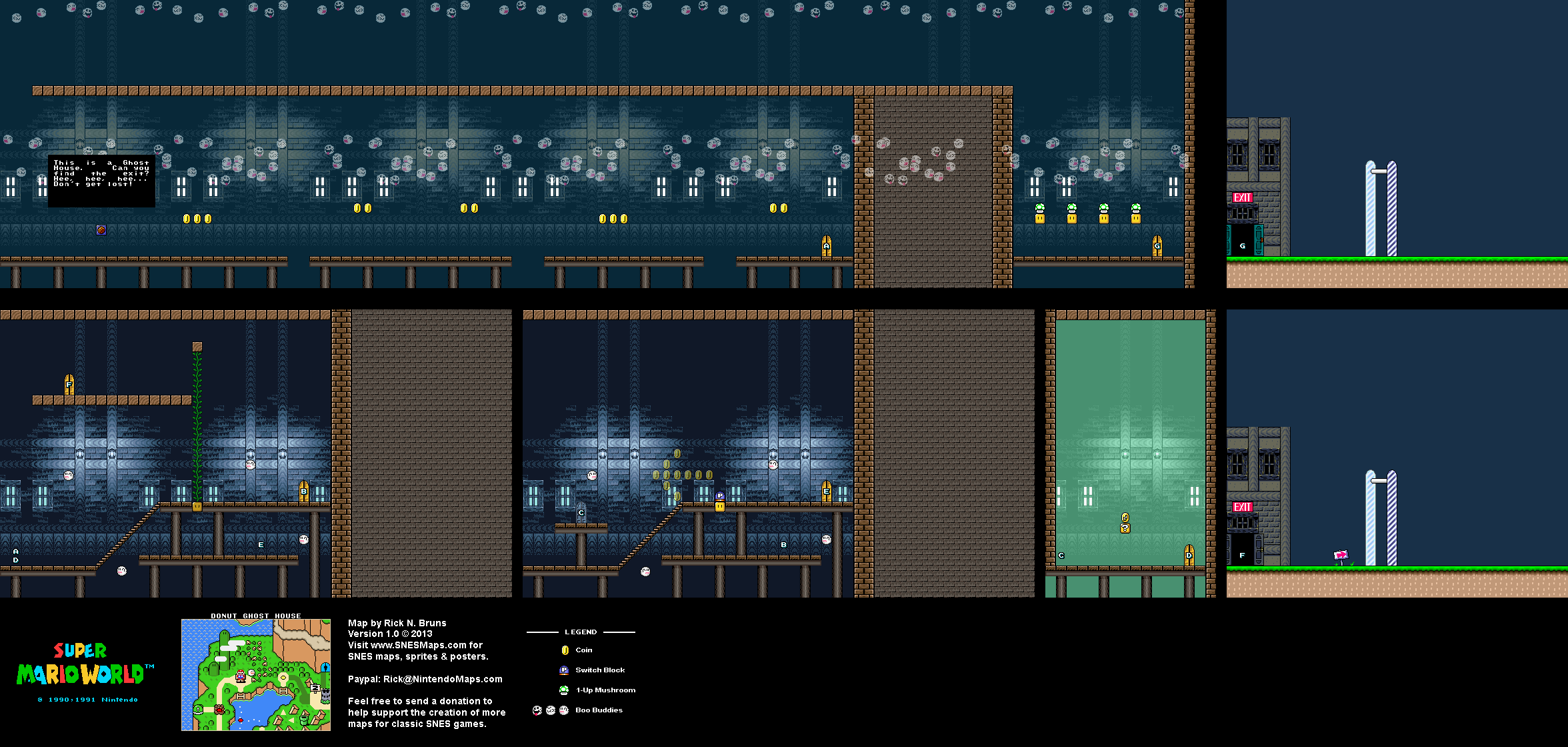 Donut Ghost House Map (PNG)